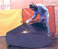 Welder using THOR welding blanket